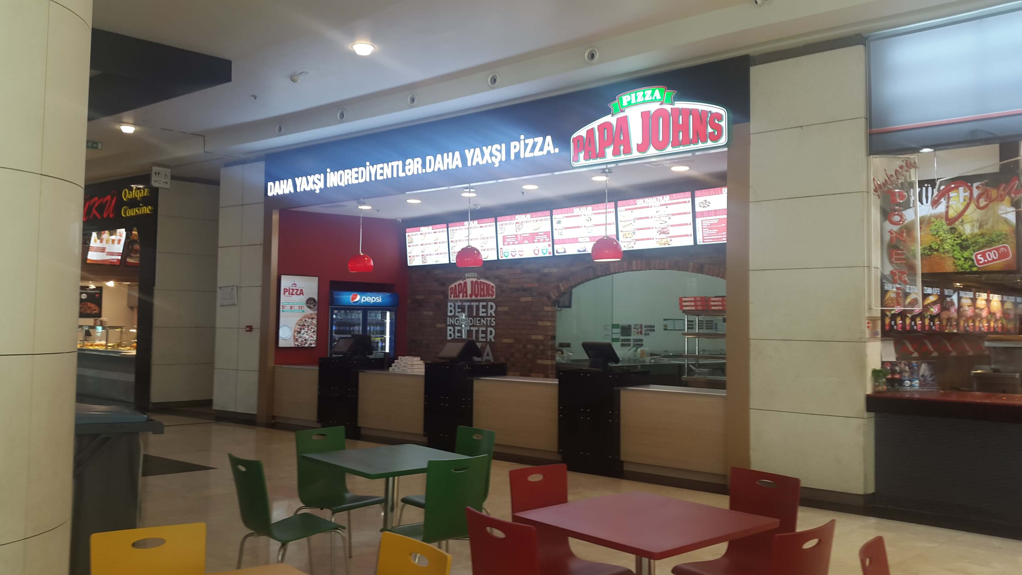 Papa Johns Pizza Park Bulvar Bakida Pizzeria Eating Drinking Baku Guide